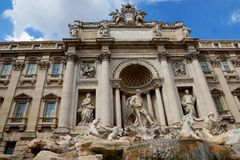 De Trevi Fountain in Rome, Italy Royalty Free Stock Photo