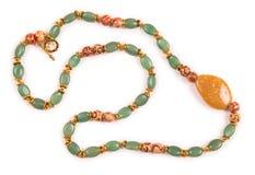 De trevliga smyckena som isoleras på den vita bakgrunden Royaltyfri Fotografi