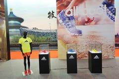 De tribune van Adidas, adidas is binnen allen Stock Foto