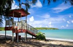 De tribune van de badmeester, zeven overzees strand Royalty-vrije Stock Fotografie