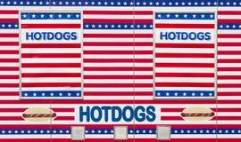 De tribune van de hotdog Royalty-vrije Stock Foto's