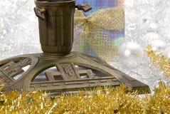 De tribune van de kerstboom Stock Foto