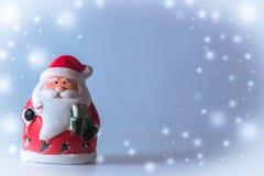 De tribune van de Kerstman op witte achtergrond Stock Afbeeldingen