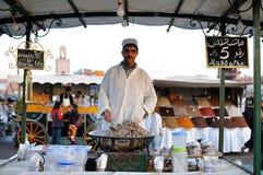 De tribune van de markt in Marrakech royalty-vrije stock afbeelding