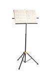 De tribune van de muziek met geïsoleerdea pianonota's Stock Foto