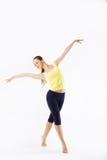 De tribune van de schoonheidsvrouw - Danser Pose Stock Fotografie