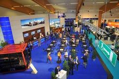 De tribune van de tentoonstelling in Interalpin 2009 royalty-vrije stock foto
