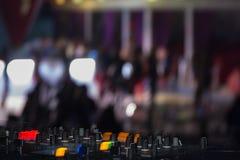 De tribune van DJ Royalty-vrije Stock Foto's