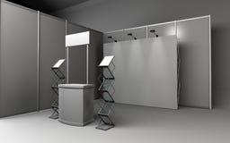 De tribune van de handelstentoonstelling, Tentoonstelling ronde, 3D het teruggeven visualiza Royalty-vrije Stock Foto's