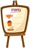 De tribune van het menu Stock Foto