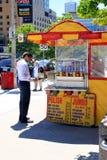 De Tribune van hotdogs Royalty-vrije Stock Foto