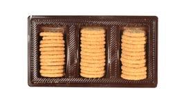 De tribune van koekjes in een doos Royalty-vrije Stock Foto's