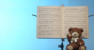 De tribune van de muzieknota stock afbeeldingen