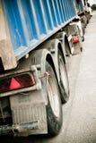 De tribune van vrachtwagens in lijn Stock Foto