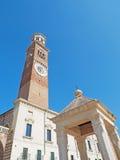 De Tribune Verona Italy van de Lambertitoren Stock Foto's