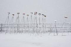 De Tribunes van de Hefboom van de Boot van de winter Royalty-vrije Stock Afbeelding
