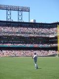 De tribunes van Garret Anderson van Outfielder in outfield Stock Foto