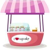 De tribunewinkel van Cupcake Stock Afbeeldingen