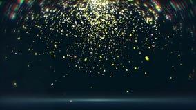 De trillende confetti valt neer (lijn) stock videobeelden