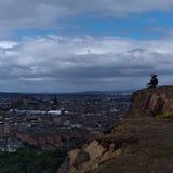 De trillende gotische stad van Edinburgh Royalty-vrije Stock Afbeelding