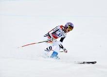 De triomf van Maria Hoefl-Riesch op de Kop van de Wereld van de Ski Royalty-vrije Stock Afbeeldingen