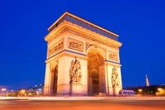 De triomfantelijke Boog, Parijs Stock Foto's