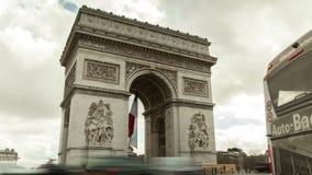 De triomfantelijke boog in Parijs, Frankrijk stock videobeelden