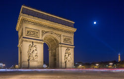 De Triomphe łuk Fotografia Royalty Free