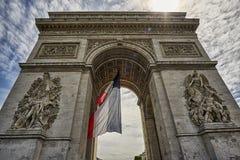 De Triomphe łuk Zdjęcie Stock