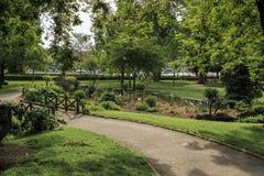 De Trocadero trädgårdarna Royaltyfri Fotografi