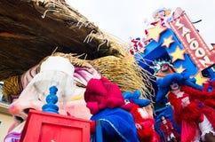 De troef van Donald satirically in Carnaval dat van Viareggio wordt vertegenwoordigd Royalty-vrije Stock Afbeeldingen