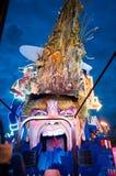 De troef van Donald satirically in Carnaval dat van Viareggio wordt vertegenwoordigd Royalty-vrije Stock Foto
