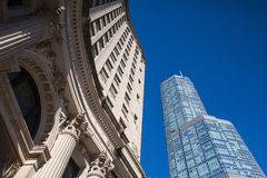 De troeftoren in Chicago. Stock Foto