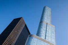 De Troeftoren in Chicago. Royalty-vrije Stock Afbeelding