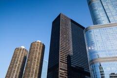 De Troeftoren in Chicago Royalty-vrije Stock Afbeeldingen