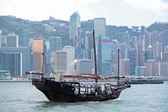 De troepboot van Hongkong Stock Afbeeldingen