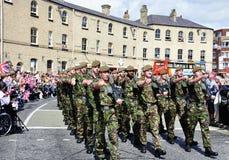 De troepen van het Regiment van Yorkshire Stock Fotografie