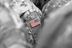 De troepen van de V.S. De militairen van de V.S. Ons leger royalty-vrije stock foto