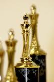 De trofeeën van de wedstrijd Stock Foto's