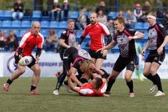 De Trofee van de de Clubkampioen ` s van rugbyeuropa Sevens in St. Petersburg, Rusland Royalty-vrije Stock Foto