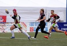 De Trofee van de de Clubkampioen ` s van rugbyeuropa Sevens in St. Petersburg, Rusland Stock Afbeelding