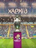 De trofee van de voetbal op 17 Mei, 2012 in Kharkov Stock Afbeelding