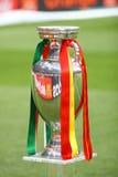 De Trofee van de Voetbal van 2012 van de EURO van UEFA (Kop) Stock Foto's