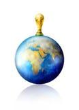 De trofee van het de kopvoetbal van de wereld Stock Afbeeldingen