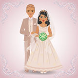 De trolovade paren i hellångt Royaltyfria Foton
