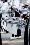 De trommel toont op vierde van juli-parade stock afbeeldingen