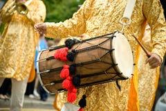 De trommel van Dhol stock foto