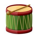 De trommel van het stuk speelgoed met trommelstokken vector illustratie