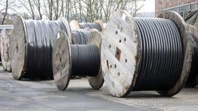 De Trommels van de kabel Stock Afbeeldingen