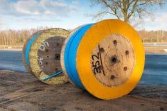 De trommels van de kabel Stock Foto's